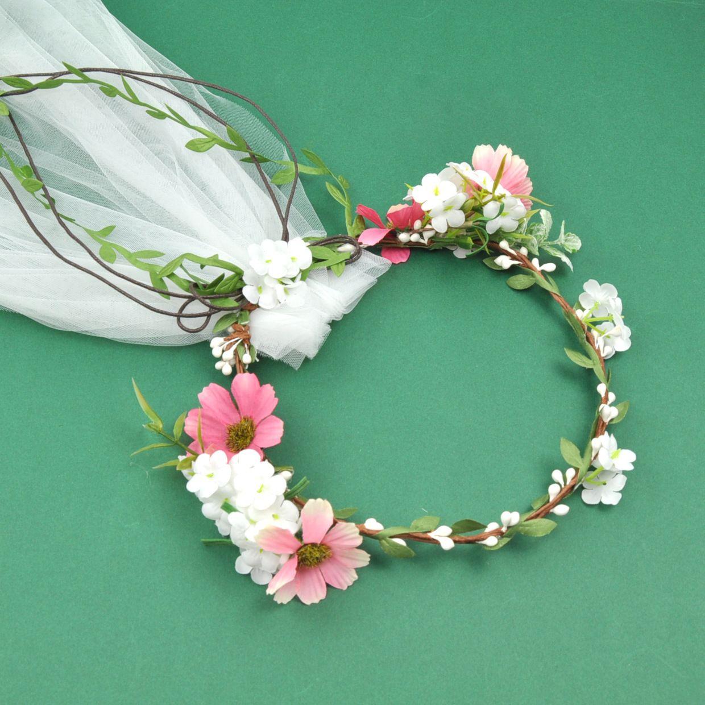 Coroas Boêmio Cabelo Flor Headbands Mulheres Véus De Noiva Véus De Noiva Da Praia Meninas Acessórios Para o Cabelo Guirlandas De Casamento Na Praia