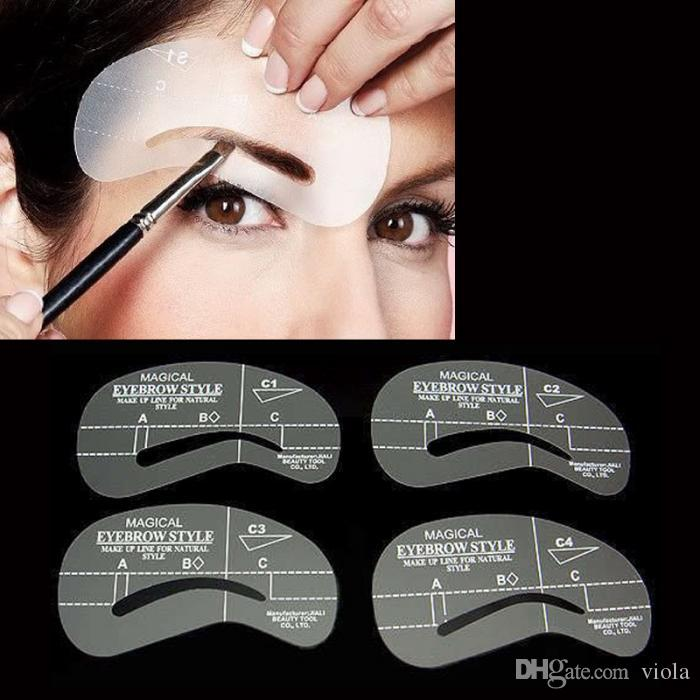 Eyebrow Stencils Tool Makeup Styles Eye Brow Template Shaper Make Up Tool C1-C4 A1-A4