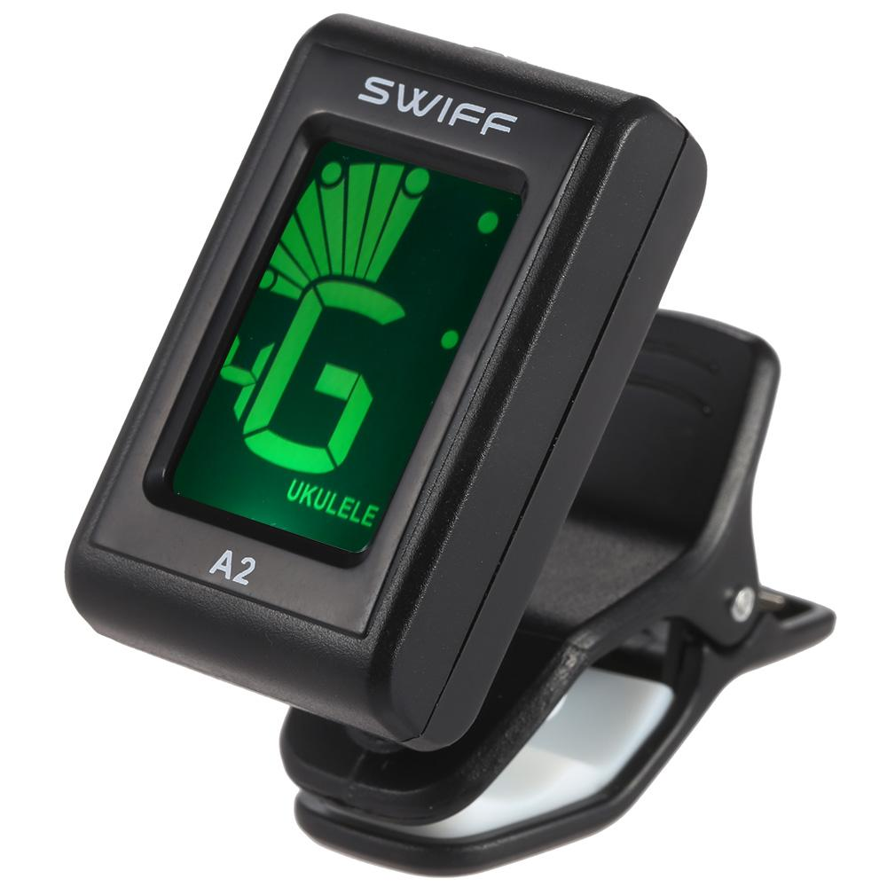 2019 wholesale a2 mini guitar tuner clip on automatic digital tone tuner lcd for acoustic. Black Bedroom Furniture Sets. Home Design Ideas