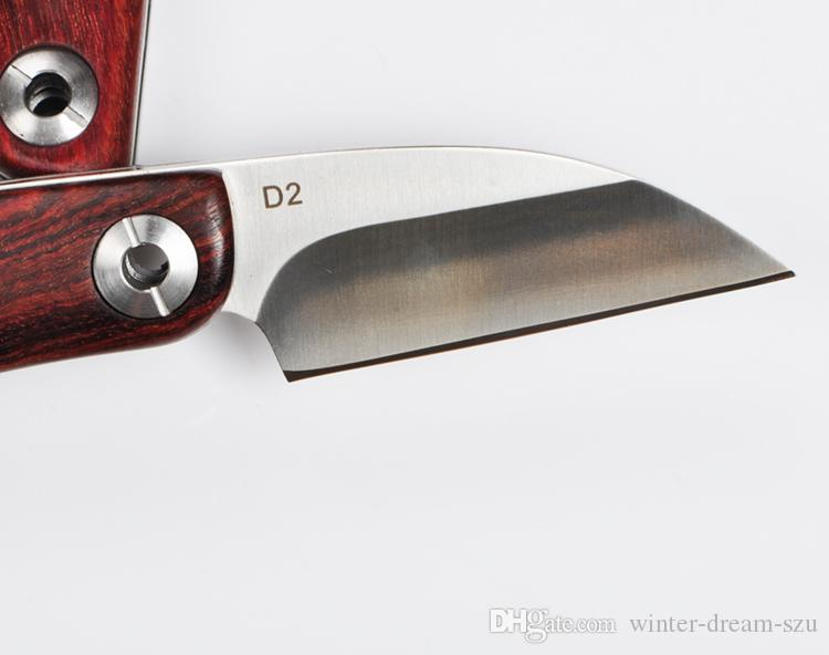 2016 маленькая бритва складной нож D2 сталь 59HRC лезвие Палисандр ручка EDC карманный выживания тактический кемпинг нож открытый передач F924L