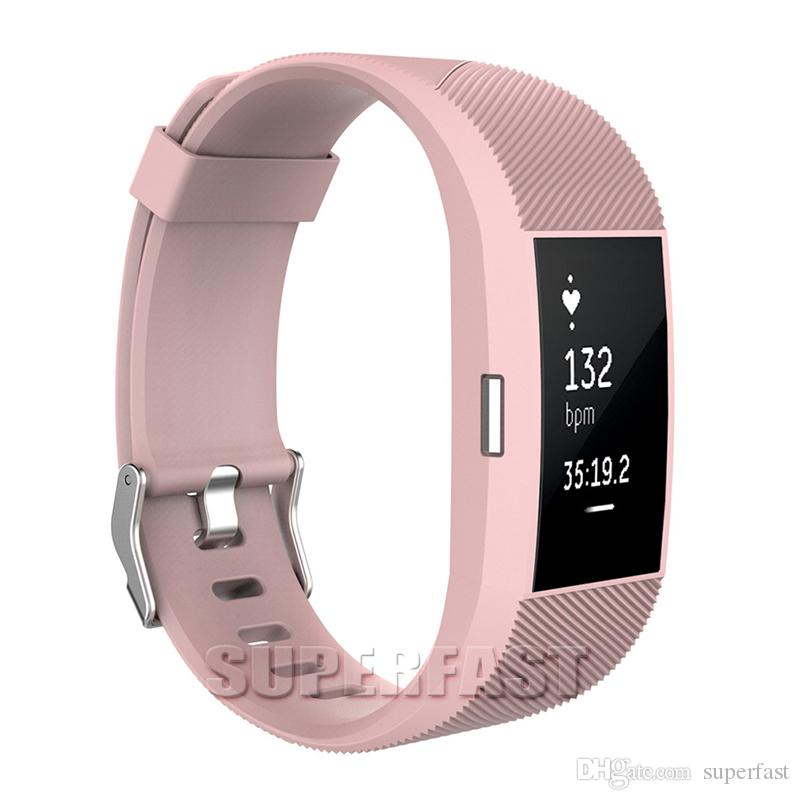 Charge 2 Smart Straps Classic Bracelet Strap Replacement Wristband Watch Band Smart Fitness with OPP Package