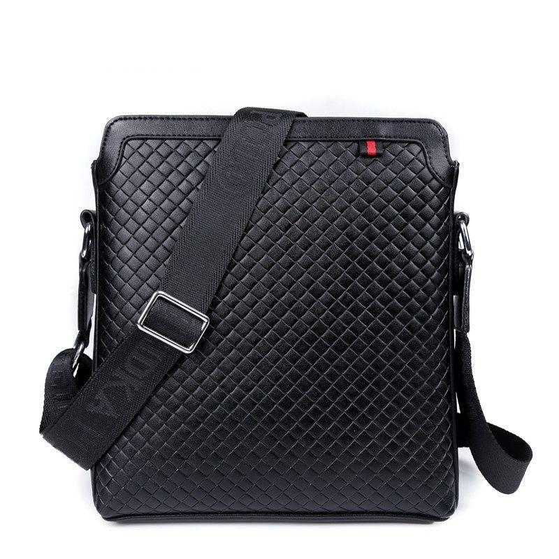 62da0fa0c610 New Men Messenger Bags Leather Shoulder Bag Cheap Men Bag Brand Fashion  Crocodile Pattern Bag Casual Plaid Briefcase 9921 Hand Bags Shoulder Bags  From …