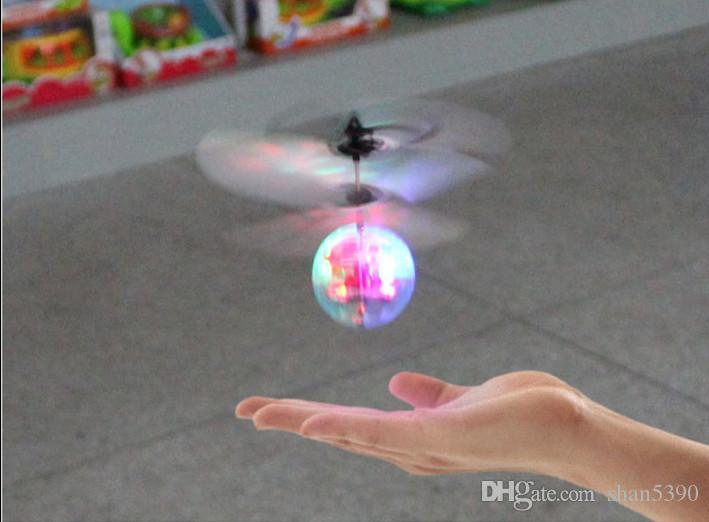 2017 Bargain sale NEW ITEMS LED Bursts of colorful flash transparent crystal ball induction aircraft charge suspended flying ball