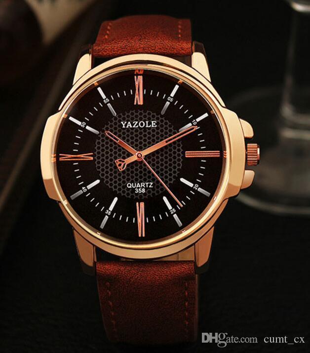 Reloj de pulsera de oro rosa de los hombres Top marca de lujo famoso reloj masculino reloj de cuarzo Reloj de pulsera de oro reloj de cuarzo Relogio Masculino