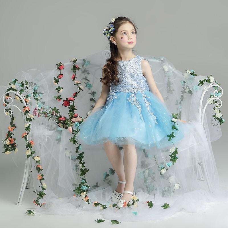 2018 2017 New Summer Children\'S Wedding Dress Grace Princess Dress ...