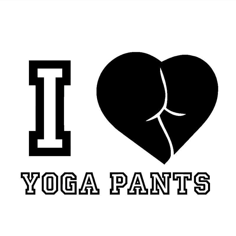 For i love yoga pants sticker vinyl decal booty gym funny car styling jdm stance drift illest jdm car sticker vinyl sticker car styling online with
