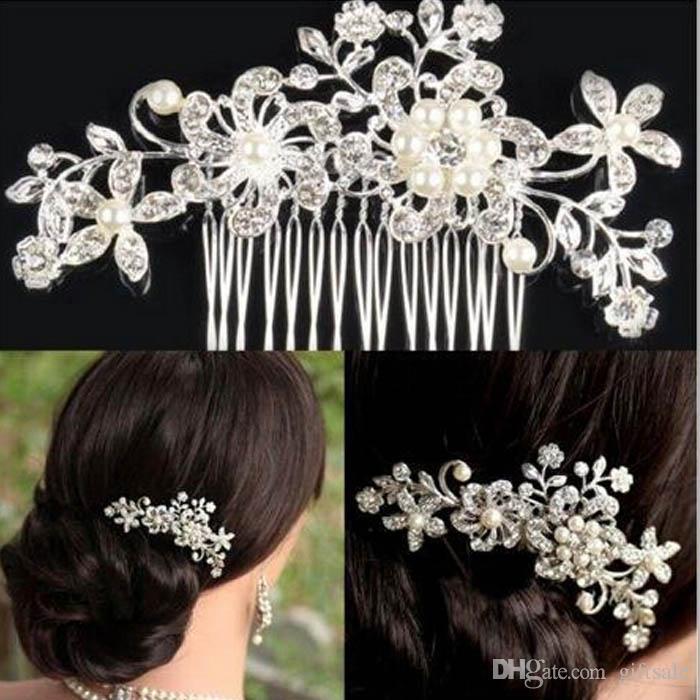 cb9bdfac2c1 Brand New Girls Hair Combs With Crystal Flower Party Wedding Hair  Accessories Rhinestone Wedding Bridal Headband Party Headpiece Girls Hair  Combs Crystal ...