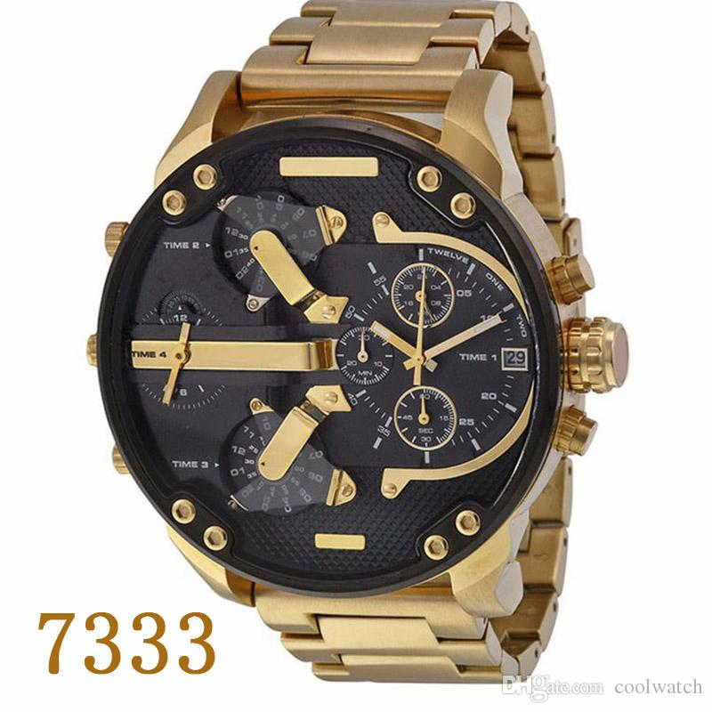 cfe9851fd2f 2017 Hot Sport Mens Watches 7333 Luxury Watch Big Dial Display Top Brand  Quartz Watch Steel Band Fashion Wristwatches For Men Online Shopping For  Wrist ...
