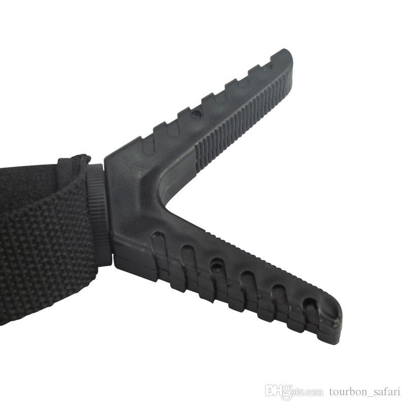 Accesorios de pistola de caza Tourbon Resto de tiro de plástico Palo de tiro Sola pierna Tres piernas Bípode V Lazo