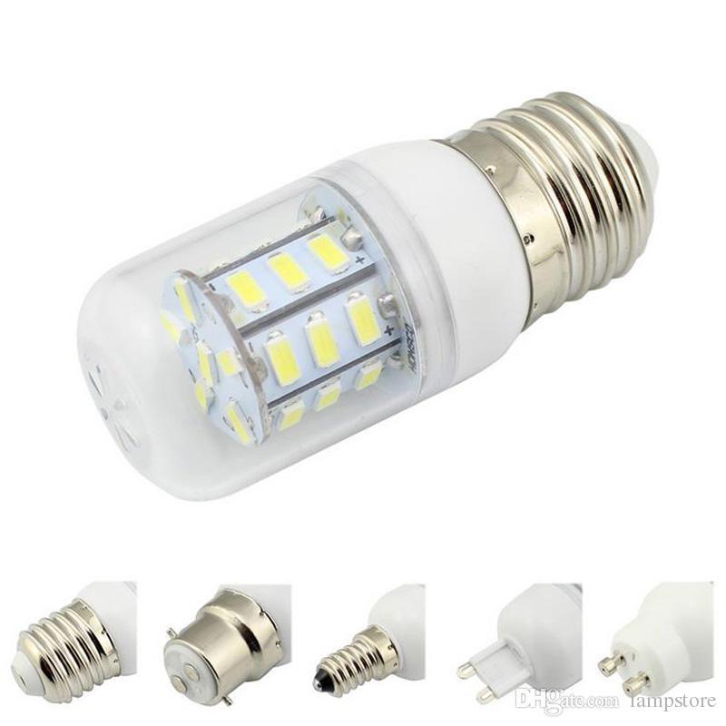 Led Lamp E27/E14/E26/E12/B22/G9/GU10 5730 SMD Corn Bulb 9V-30V Chandelier White/Warm White Energy Saving