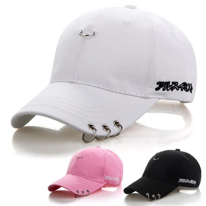 Купить Оптом Оптовая Продажа Черный Взрослый BTS Повседневная Твердые  Регулируемые Железные Кольца Бейсболки Snapback Cap Casquette Шляпы  Установлены ... f0686b85eb179