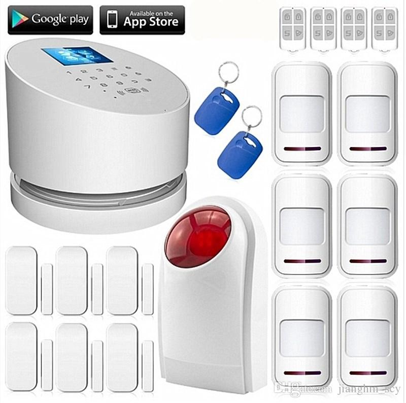 LS111- Original W2 WiFi GSM PSTN RFID Security Alarm System Wifi GSM home  alarm Android IOS App remote controller outdoor strobe siren