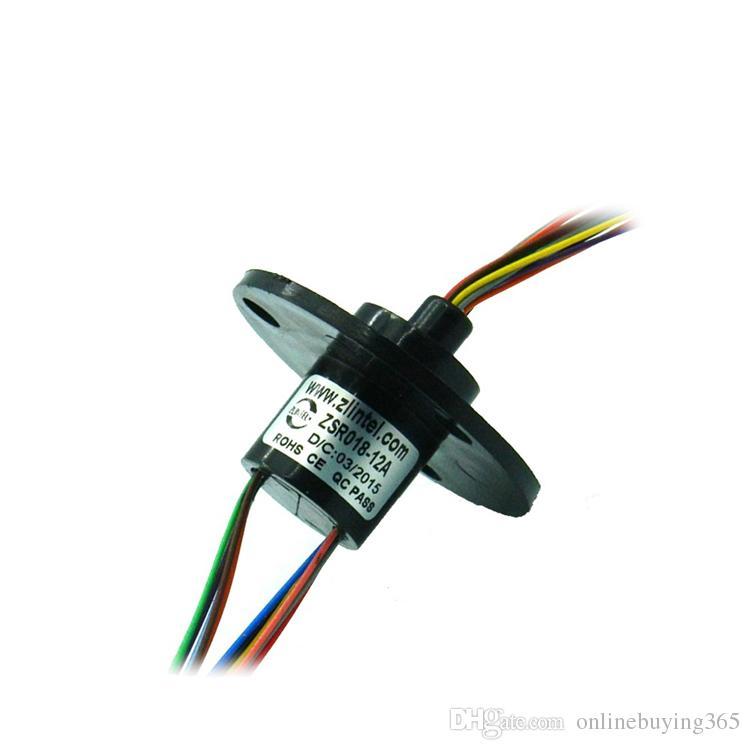 12 Canal 2A Out Dia. A cápsula de 18mm elétrica recolhe acessórios condutores dos anéis deslizantes de anel deslizante dos anéis