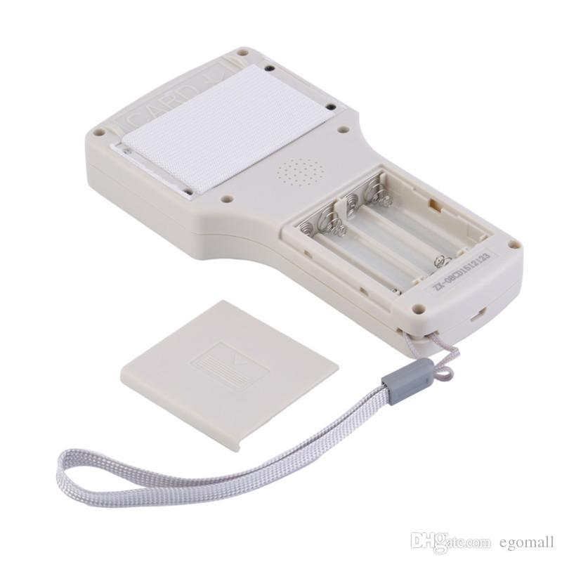 9 copiadora de frecuencia con cifrado NFC tarjeta inteligente RFID copiadora ID / IC grabador con cable USB blanco