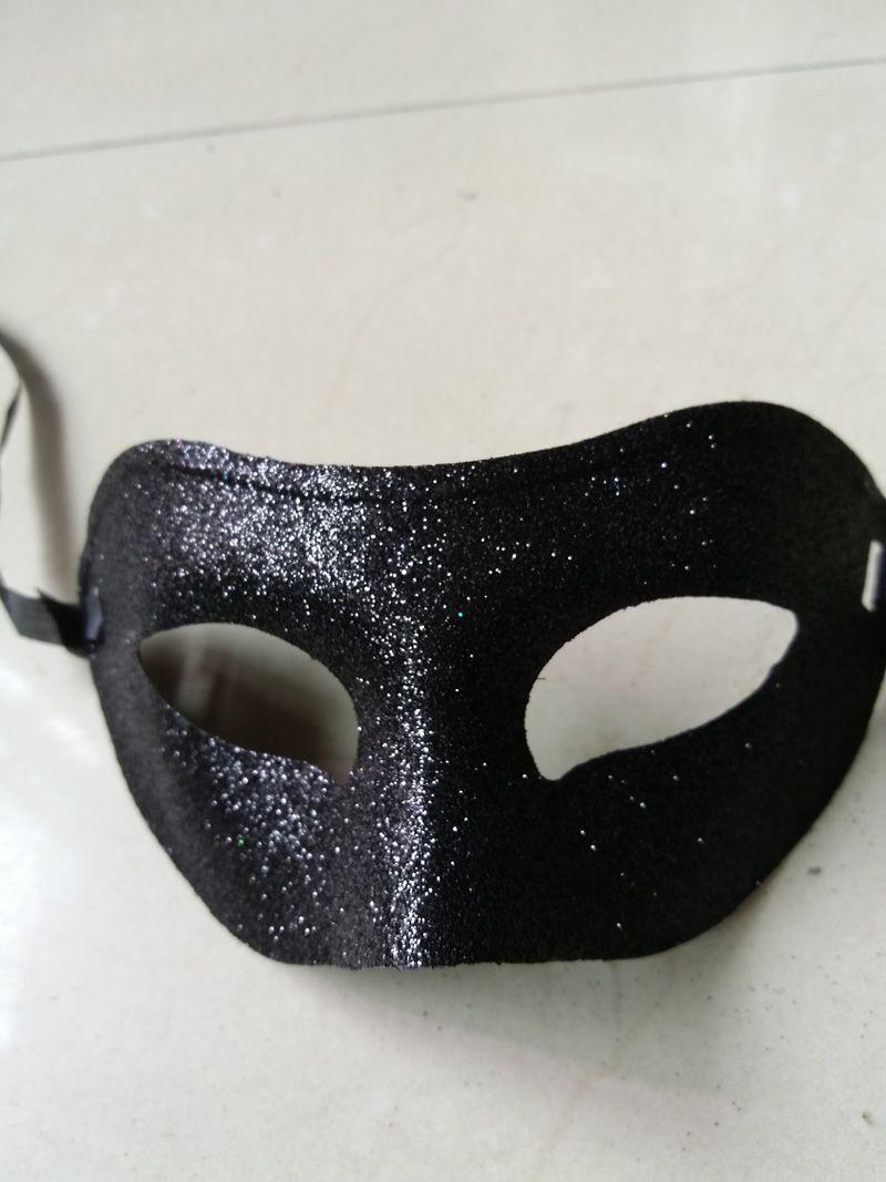 Charming Glitter Fox Shape Zorro Bandit Phantom Mask for Mardi Gras Party Mask Costume Decoration Costum Masquerade Theme Black
