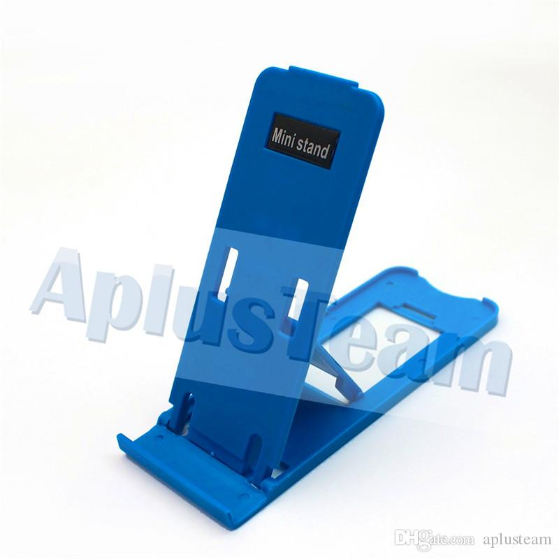 Foldable Stand Holder Universal Adjustable Folding Support Mini Portable Plastic Kicketstand Holder For Cell phones Iphone4 4s 5 Samsung HTC