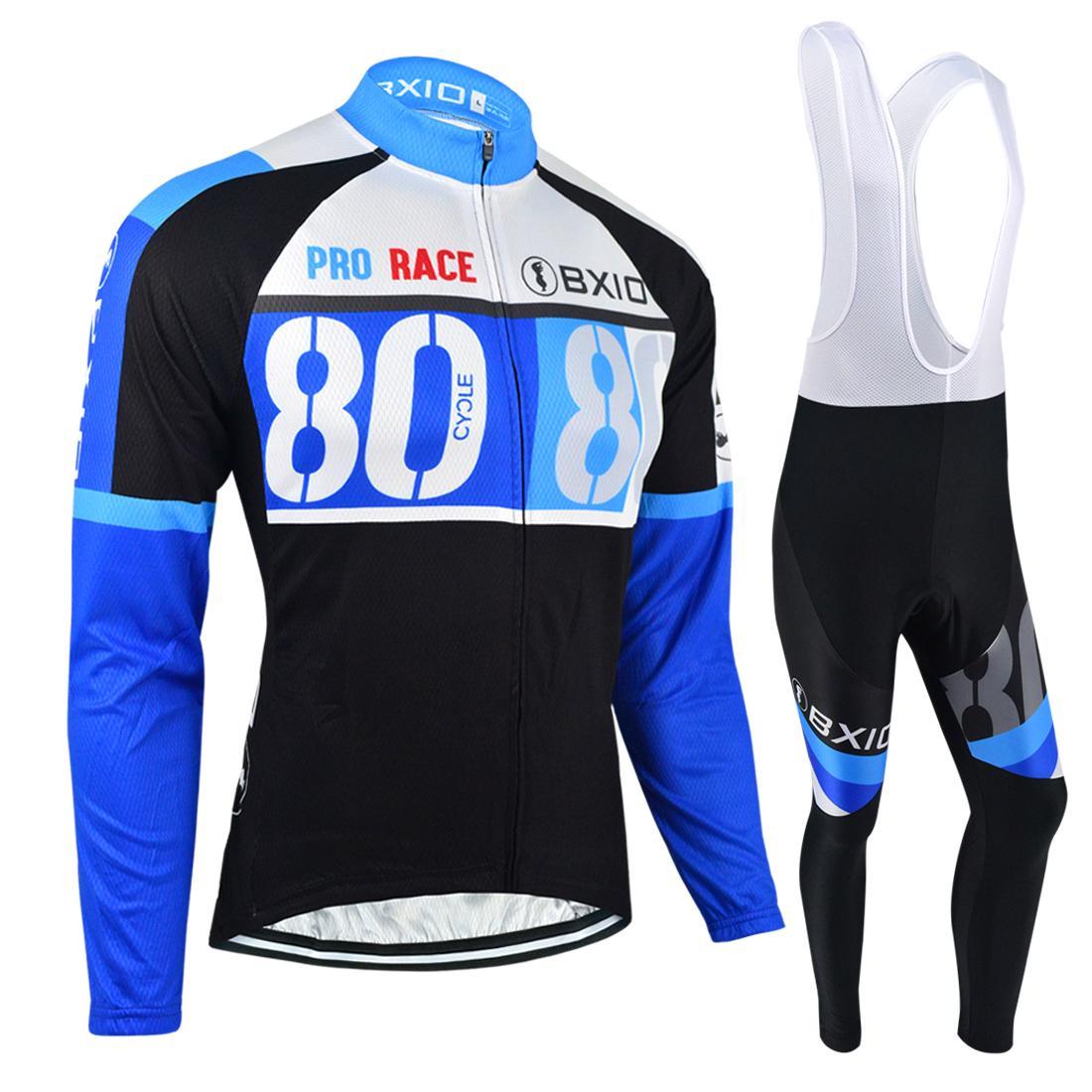 BXIO Brand Winter Thermal Cycling Jerseys Anti Pilling Cycle Jersey ... 7e425bcb3