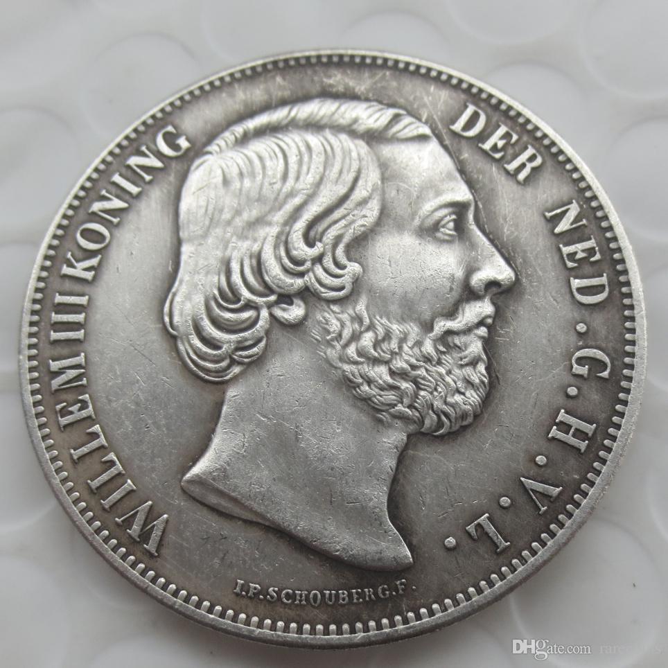 Großhandel 1855 Niederlande William Iii 2 12 Gulden Silber