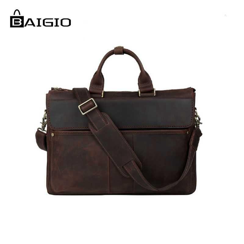 ba3e1b7c4d2a Wholesale- Baigio Men Laptop Bag 16