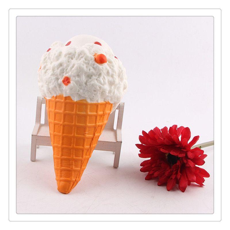 Wholesale Kawaii Squishies Ice Cream Squishies Slow Rising Cream Cake Mango Phone Straps Charm Fidget Toys Gift Ideas Free DHL