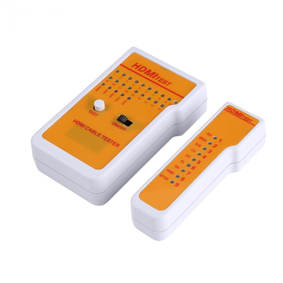 Portable H-DM-I Tester High Definition Remote Cable Tester Tool Network Tools with 9 LED Indicators
