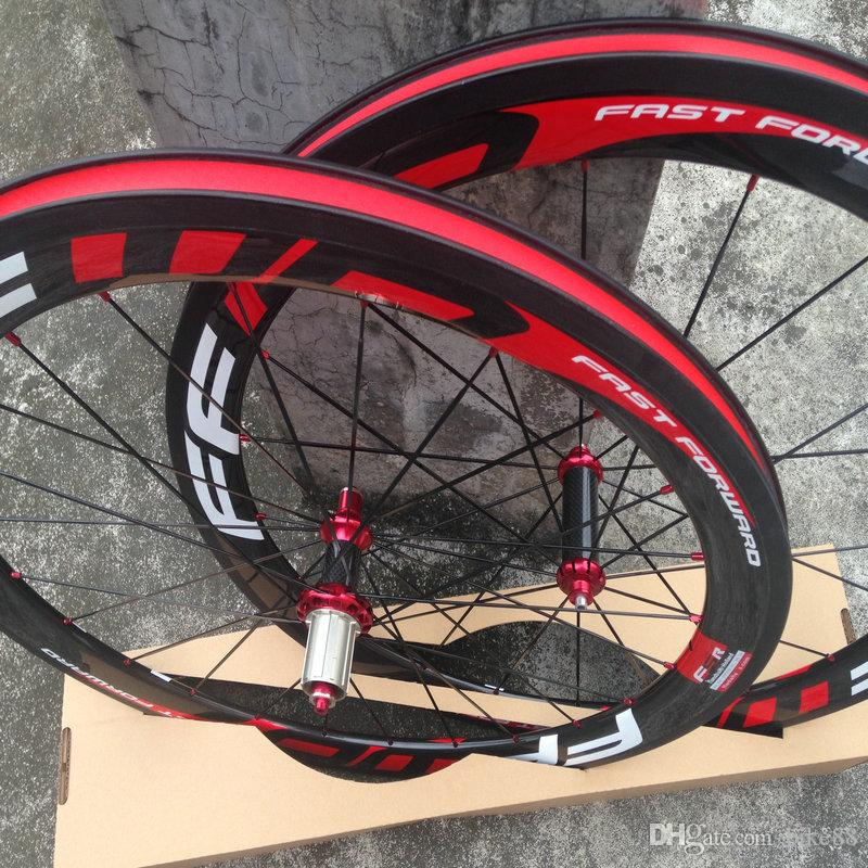 Original FFWD F5R 1k glossy finish T1000 carbon wheels 50mm ffwd red bicycle carbon wheels basalt surface wheelset china carbon wheels