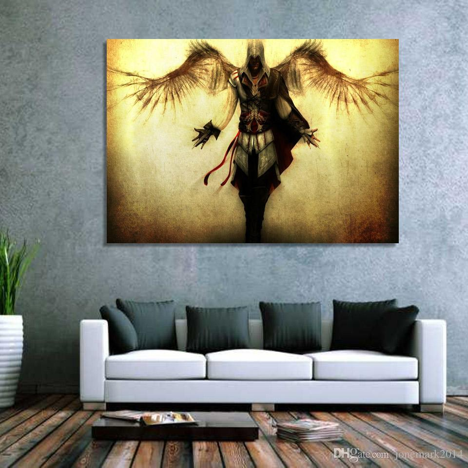 2018 Assassin Creed Wings Wall Art Canvas Pictures For Living Room ...