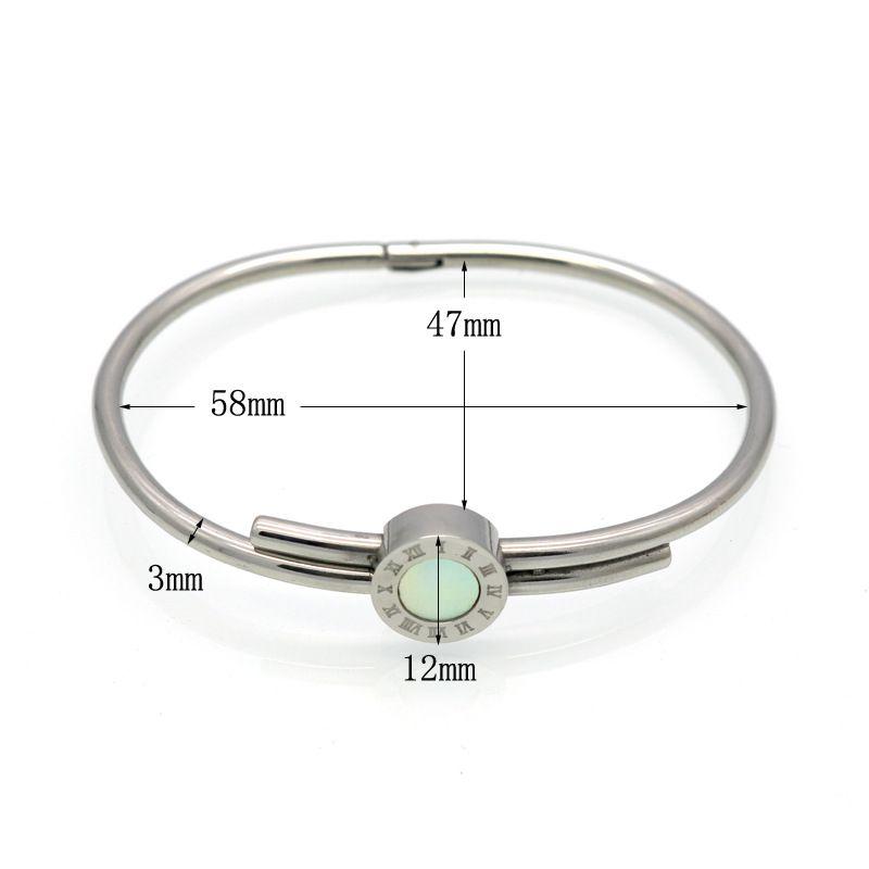 Women Wedding Bracelet Roman Numeral Brand Bracelets & Bangles Gold/Rose Gold Bangle Engraved Shell Jewelry For Valentines Gift