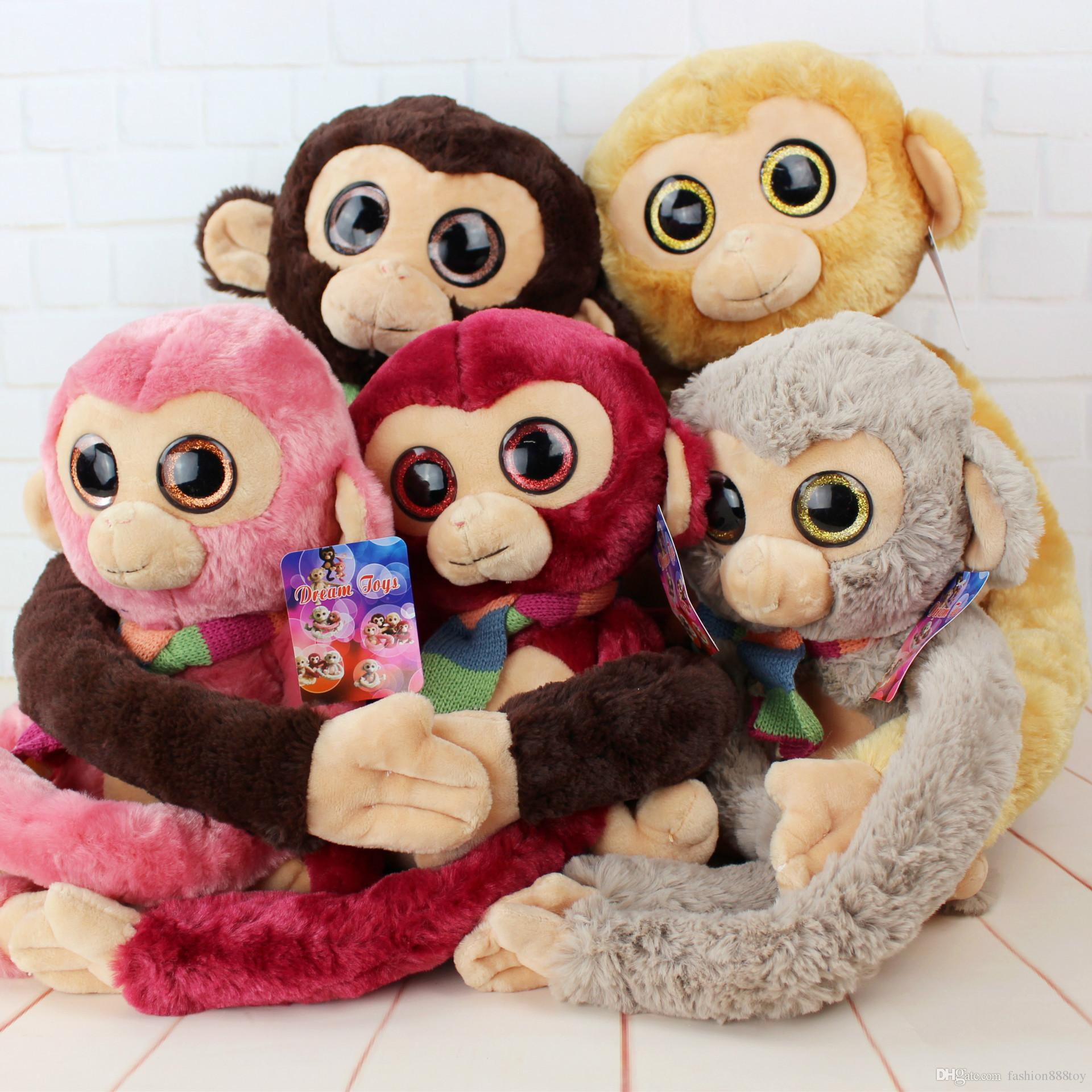 2019 Big Eyes Monkey Plush Toy Sleep Pillow Birthday Gift Soft