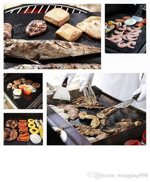 Tapis de barbecue Barbecue Tapis de barbecue antiadhésif Four à micro-ondes Four à micro-ondes Feuille de téflon réutilisable