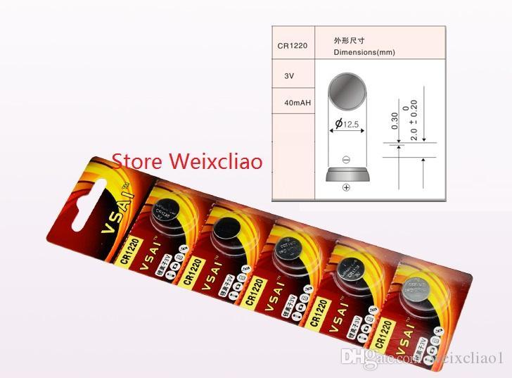 1 CR1220 3V lithium li ion button cell battery CR 1220 3 Volt li-ion coin batteries VSAI
