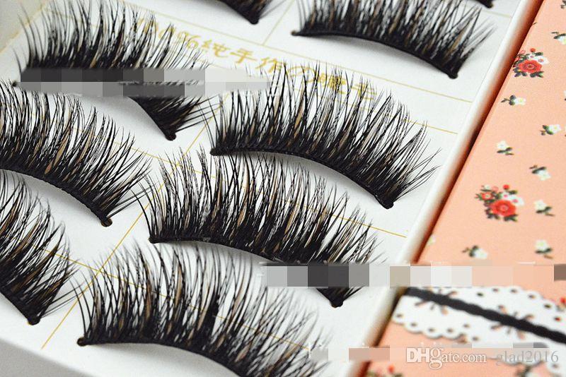 Hot Sale Charming Black False Eyelashes Natural New Designer Makeup Eyelash Dense slender colored fake eyelashes E03