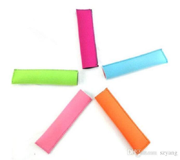 Toptan Popsicle Sahipleri Pop Buz Kollu Dondurucu Pop Sahipleri Çocuklar için 15x4.2 cm Yaz Mutfak Araçları 10 renk