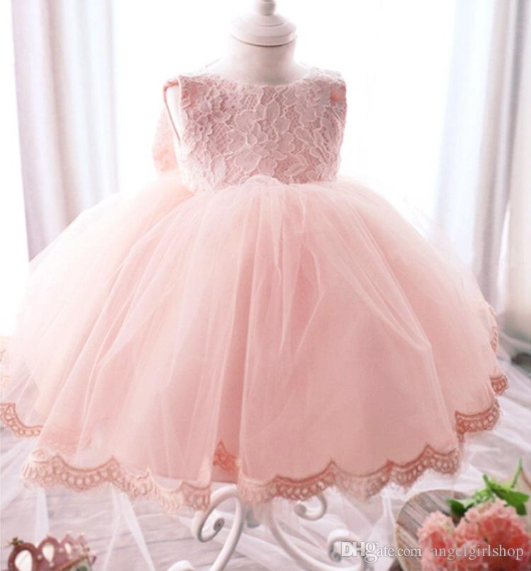Baby Girl Vintage Communion birthday Pageant Kids Party Prom Dress Wedding Gown Infant Flower Girl Children Fancy Dresses