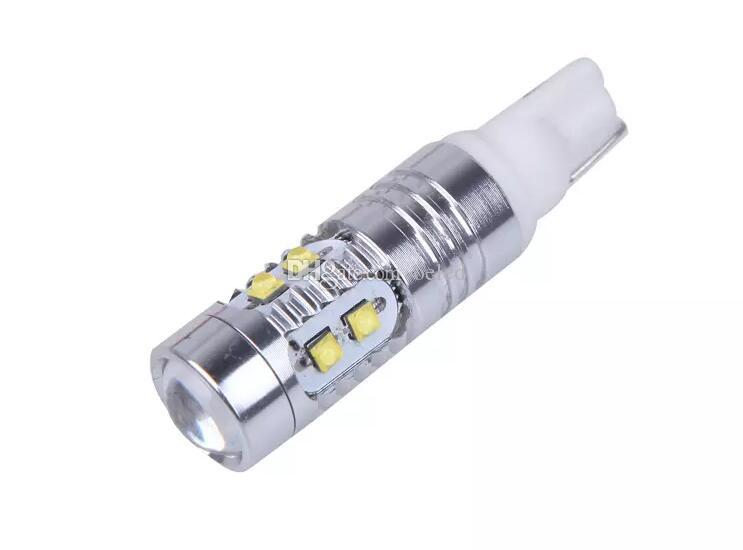 High Quality&Power White T15 50W CREE T10 W5W Car LED Bulb Light Side Wedge Lamp Bulb Clearance Lights Instrument Light Marker Lamps