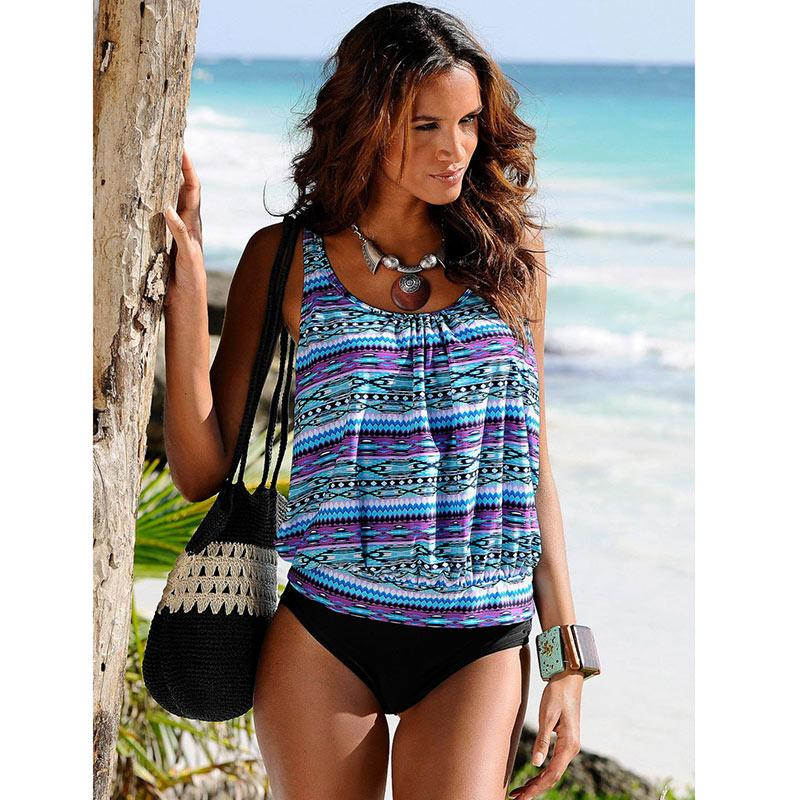 311fd0cb034 2019 Sexy Tankini Bikinis Women Brazilian Bikini 2017 Plus Size Swimwear  Biquini High Waist Swimsuit Two Pieces Bathing Suit XXXL From A012991