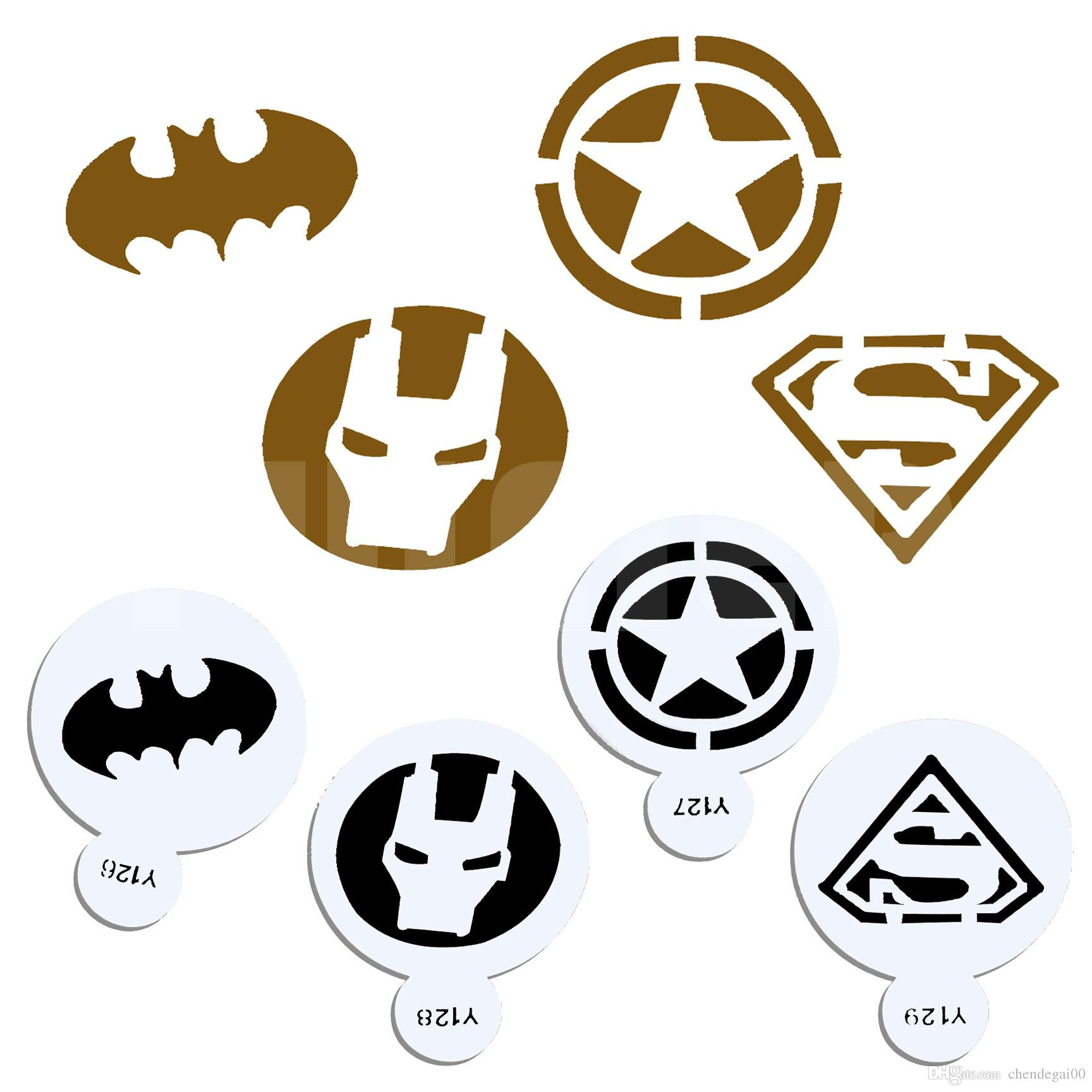 2019 Super Hero Shape Cookie Cake Stencil Pastry Fondant Cake
