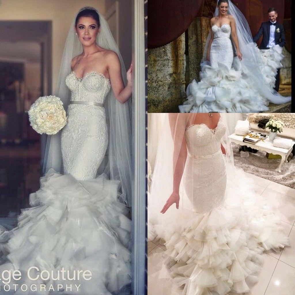 Suzanna blazevic cathedral ruffles train mermaid wedding for Suzanna blazevic wedding dresses