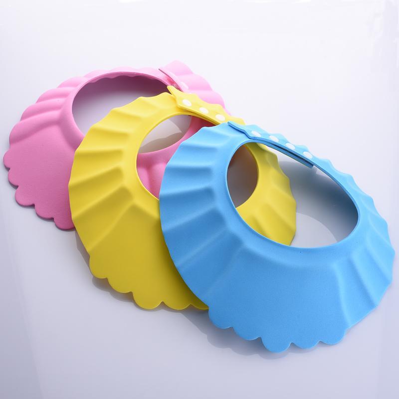 Soft Baby Kids Children Shampoo Bath Shower Cap Adjustable Baby Shower Hat Baby Shampoo Cap Wash Hair Shield