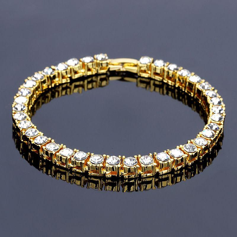2018 New Design Fashion Charms Chain Bracelets Men Crystal Punk ...
