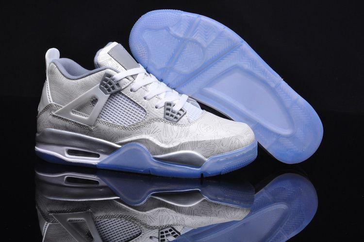 Mens Air Jordan Retro 4 Bleu Laser