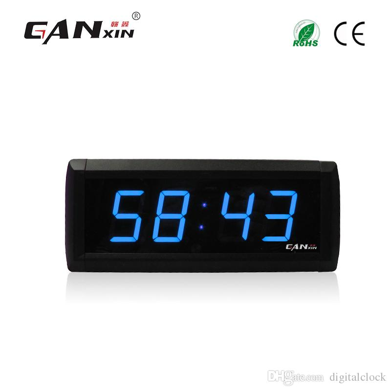 [Ganxin]1.8 inch led Display Wall Clock Modern Design Countdown Timer Red Ultra Brightness Light Tubes USB Led Clock