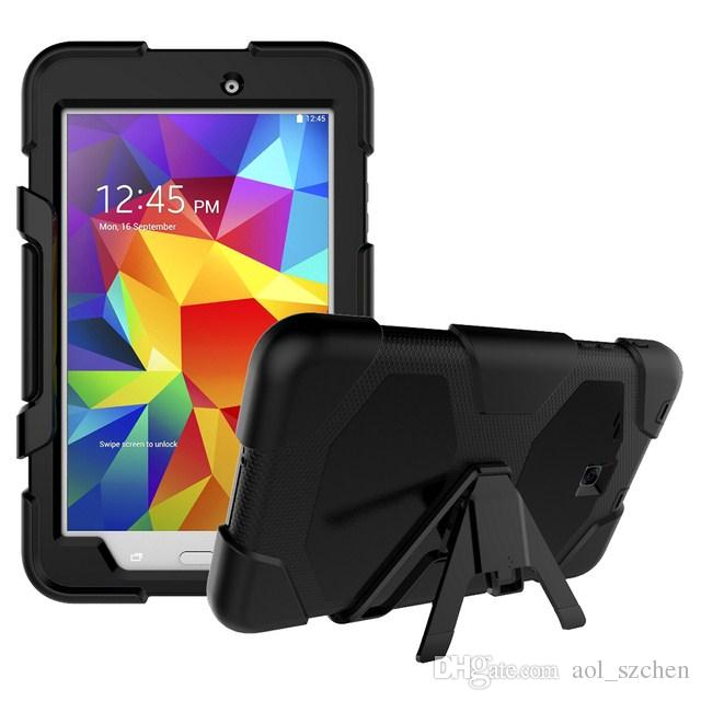 Hard Stand Case For Samsung Galaxy Tab E 8.0 T377 Tablet Heavy Duty Rugged Impact Hybrid Case Kickstand Protective Cover