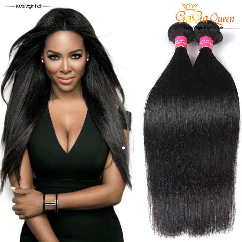 Gaga Queen Hair Products Brazilian Virgin Hair Straight 3bundles