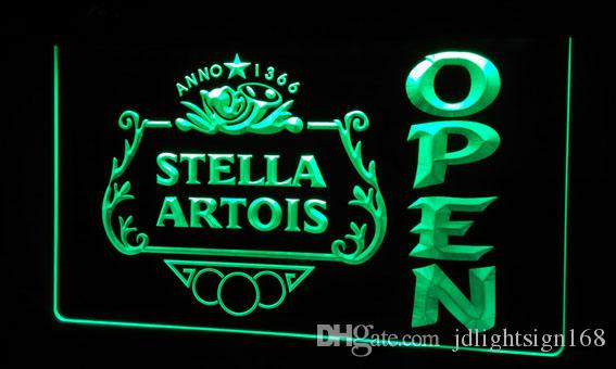 2019 Ls462 G Stella Artois Beer Open Bar Neon Light Sign Jpg From