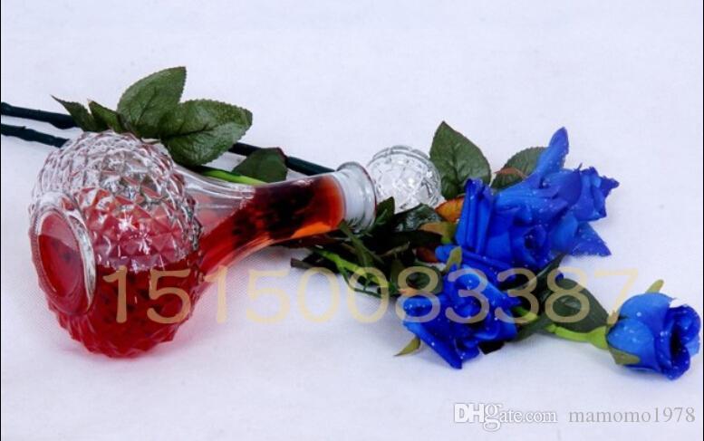 핫 세일 새 도착 크리스탈 위스키 와인 샷 병 마개 막대기와 함께 유리 병 디 켄 터 500ML 100ML J1083
