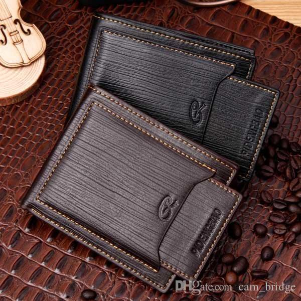 1597b483b3ae Stylish Men Pocket Money Purse Leather PU Wallet ID Card Clutch Bifold RFID  Blocking Removable Credit Card Case Black Brwon A090
