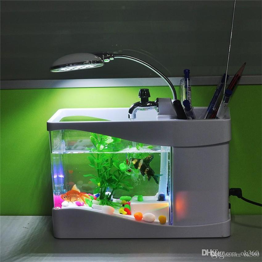 2018 hot sale black white digital fish tank aquarium with for Aquarium fish for sale online