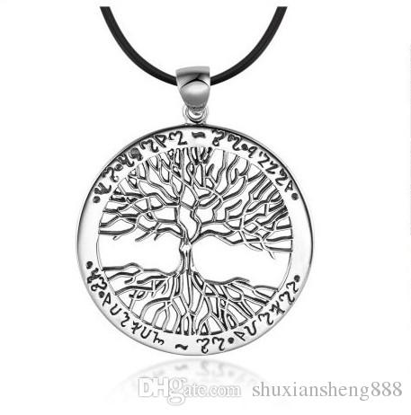 New CHIC BEST SELLING ancient silver Tree Of Life Pendant Necklace totem gift girl women wedding Valentines Day love jewelry
