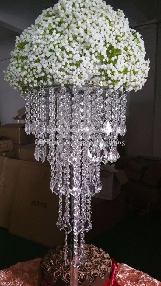 tall acrylic plastics bead wedding pillar flower stand vase rh dhgate com